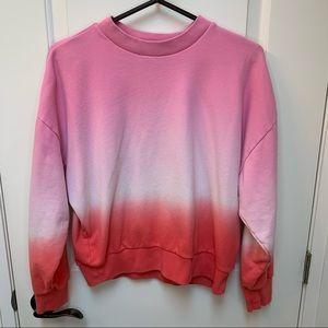 Gap pastel Crewneck sweater pink tie dye pullover